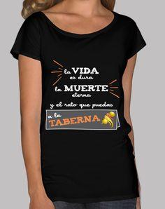 Camiseta La vida es dura (fondo oscuro)