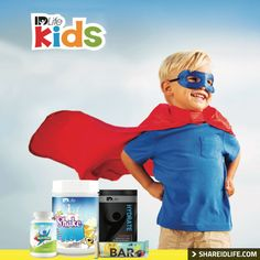 Unique formulation made specifically for kids and their nutritional needs. Supplements, Meal Replacement Shake, Hydrate, and Kids Snack Bar.  http://shareidlife.com/ #IDLife #ShareIDLife #Health #Supplements #Nutrition #Kids #Shake