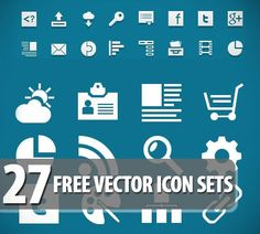 27 Free Vector Icon Sets
