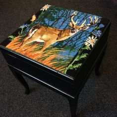 """My deer"" sewing box/foot stool"