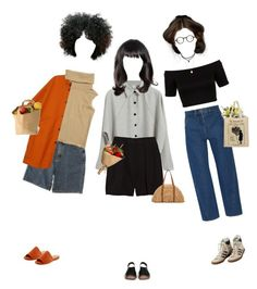 """""""Simple Mondays"""" by silentmoonchild ❤ liked on Polyvore featuring Charles David, Alexander Wang, Lemaire, Miss Selfridge, adidas, Chanel, Marni, San Diego Hat Co., Monki and Barton Perreira"""