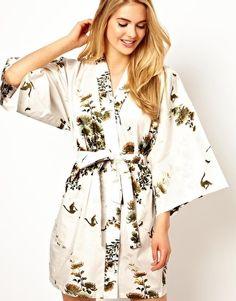 Image 1 ofKiku Enchanted Crane Short Kimono