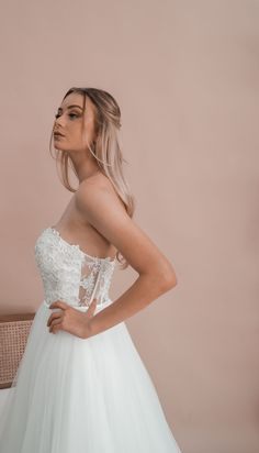 Inspired by the love for minimalistic elegance, Miss Scarlett is an Australian bridal label offering contemporary custom-made dresses for the bride looking for something a little more sophisticated and a little less traditional. Debutante Dresses, Deb Dresses, Bride Look, Serendipity, How To Feel Beautiful, Illusion, Wedding Gowns, Ball Gowns, Bridal