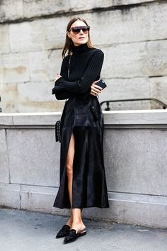 Giorgia Tordini Masters A Chic All-Black Outfit