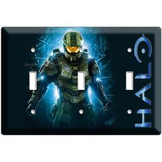 Halo light switch plate