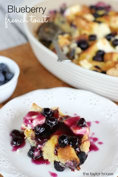 Blueberry French Toast, Blueberry Recipes, French Toast Bake, Blueberry Bake