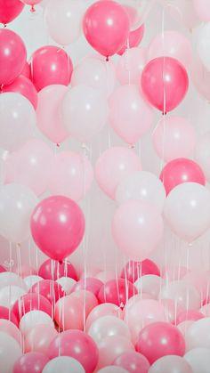 Balloon Background, Balloon Backdrop, Balloon Decorations, Birthday Party Decorations, Pink Birthday Background, Birthday Posts, Birthday Frames, Girl Birthday, Pink Happy Birthday