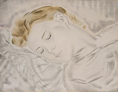 1930 env. Femme endormie Eau-forte sur chine appliqué 26.3 x 34 cm Collection particulière