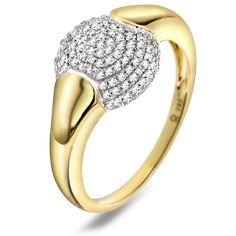 Ring i gull med diamant ct WP - Juvelen gullsmed Gull, Bangles, Bracelets, 30th, Rings, Jewelry, Jewlery, Jewerly, Ring