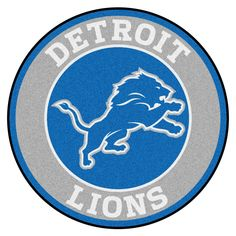 NFL - Detroit Lions Roundel Mat diameter Size: diameter Looking for a unique rug to decorate your home or office with? Roundel Mats by Sports Licensing Detroit Lions Logo, Detroit Lions Football, American Football, Dallas Cowboys, Cincinnati Bengals, Houston Texans, Alabama Football, College Football, Football Team