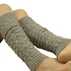 Leg Warmers Knit Cuff Women Knee Socks For Boots With Lace Stocking Free Shipping Calentadores De La Pierna #2458