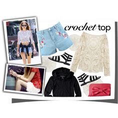 Crochet top with shorts