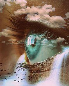Pretty Eyes, Cool Eyes, Beautiful Eyes, Space Artwork, Eyes Artwork, Aesthetic Eyes, Crazy Eyes, Montage Photo, Eye Photography