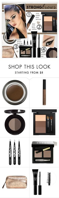 """Well-Groomed: Perfect Brows"" by alves-nogueira ❤ liked on Polyvore featuring beauty, Giorgio Armani, NYX, MAC Cosmetics, Bobbi Brown Cosmetics, MANGO and MAKE UP FOR EVER"