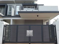 Premium Collections Images of Trackless & Folding Gates - Elite Gates Iron Main Gate Design, Gate Wall Design, Home Gate Design, Grill Gate Design, House Main Gates Design, Main Entrance Door Design, Steel Gate Design, House Front Design, Entrance Gates