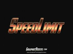 GraphicRiders | Action style – SpeedLimit (free photoshop layer style - text effect)