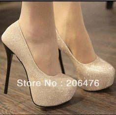 Evening high heels Shoes black/silver Colour Party Pumps Shoes Size 35-39 $22.77
