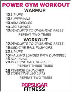 A Sports Club/LA BLITZ-style workout for your next gym trip!