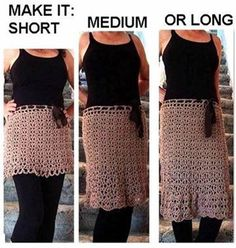 Crochet Any Length Skirt Free Pattern- Crochet Women Skirt Free Patterns