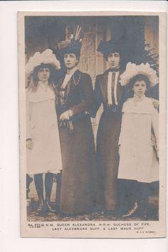 Vintage Postcard Queen Alexandra of Great Britain Princess Maud & Daughters   eBay Vintage Postcards, Vintage Photos, Queen Victoria's Daughters, Queen Elizabeth, Great Britain, Vintage Dresses, Royals, Princess, Painting