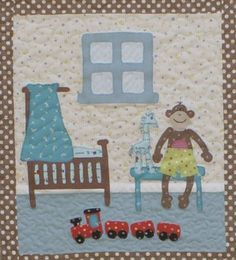 """Rosalie Quinlan Designs: """"It's a Dollies Life"""" revealed Baby Applique, Machine Applique, Embroidery Applique, Dollhouse Quilt, Dolly House, Sarah Kay, Cross Stitch Baby, Mini Quilts, Little People"""