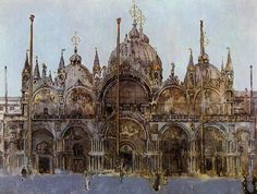 Walter Sickert St Mark's Cathedral, Venice