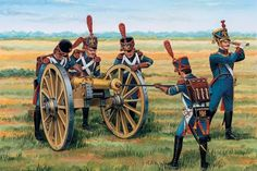 NAP- France: French Artillery, by (artist unknown). Military Weapons, Military Art, Military History, Napoleon French, French Pictures, Empire, French Army, Napoleonic Wars, American Civil War