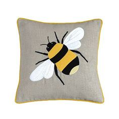 daisy, bee and sunflower cushions by heart & parcel | notonthehighstreet.com