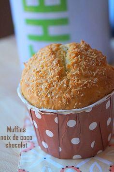 Muffins américains noix de coco & pépites de chocolat