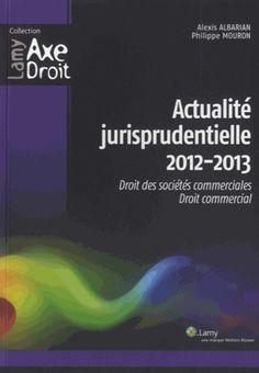 Recueil de jurisprudence de mai 2012 à septembre 2013 dans les principales disciplines du droit des affaires.
