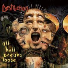 """Il primo album dopo la reunion dei #Destruction intitolato """"All Hell Breaks Loose""""."""