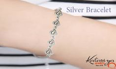 Stylish 925 Sterling Silver Bracelet  Buy Now : http://buff.ly/1SO7NNo COD Option Available With Free Shipping In India