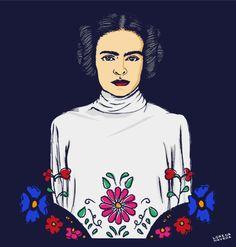 Frida Kahlo en una galaxia muy muy lejana. Frida Kahlo in a far far away galaxy. #FridaKahlo #StarWars