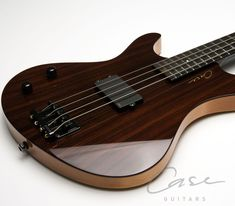 Case Guitars - JB Bass (left handed) #rosewood top on #alder body, one MMCS #EMG_pickup active pickup with coil splitting switch