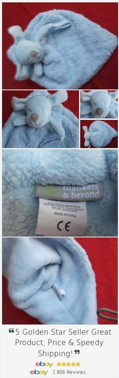 Blankets and Beyond Blue Dog security blanket lovey pacifier holder