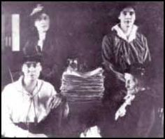 Photo of four women members of the Manitoba Political Equality League