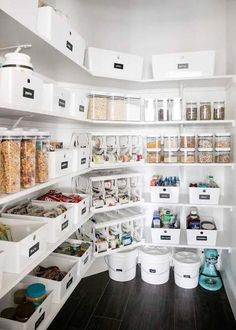 large pantry ideas Pantry Ideas - Clever Pantry Shelving Ideas to Make Your Pantry More Organized Pantry Shelving, Pantry Storage, Kitchen Storage, Shelving Ideas, Pantry Closet, Hall Closet, Kitchen Pantry Design, New Kitchen, Kitchen Decor