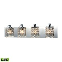 ELK Lighting 11238/4-LED Optix Collection Polished Chrome Finish