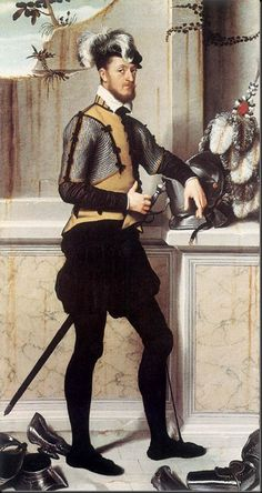 G. B. Moroni, Portrait of a Gentleman, (Conte Faustino Avogadro(?), c. 1560, National Gallery, London, oil on canvas, 202 x 106 cm.