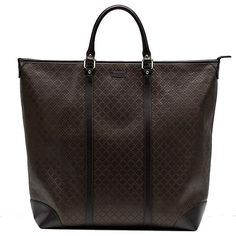 7d1f4dbac Gucci Diamante Leather Large Zip Top Unisex Tote Bag 308896