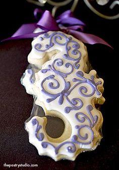 Purple Seahorse ~ decorated sugar cookie art