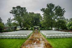 A wedding set up in the Pegasus Garden. Photo courtesy of Dziekonski Photography.