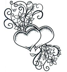 Two Hearts Entwined (stamp / stempel)