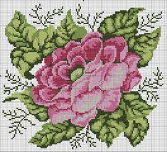 Gallery.ru / Фото #154 - 463 - markisa81 Easy Cross Stitch Patterns, Simple Cross Stitch, Cross Stitch Rose, Cross Stitch Flowers, Cross Stitch Designs, Cross Stitch Pillow, Cross Stitch Cards, Cross Stitching, Cross Stitch Embroidery