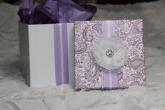 Large Purple Paisley Bridal Emergency Kit by WiedersWhimsy on Etsy, $55.00