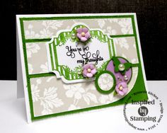 On A Stampage...: Green & Purple
