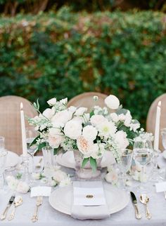 lush english garden wedding centerpiece Ashley Rae Photography