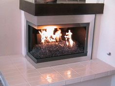 corner two sided fireplace mantels Roll over photo above to see