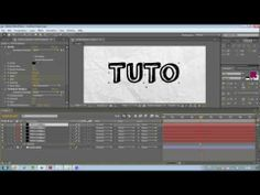 TUTORIAL Adobe After Effect - Animation Dessin Texte sur papier - Drawing Text from Masks FR - YouTube