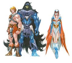 Masters of the Universe Character Designs: He-Man, Skeletor & the Sorceress